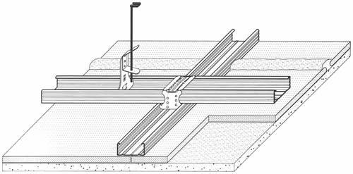 D122 - ossature double - simple recouvrement